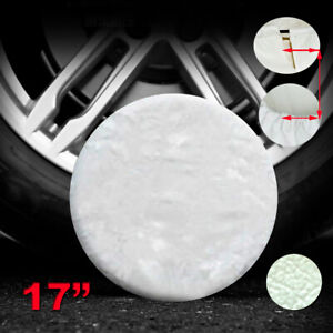31 3 33 Plain White Spare Tire Cover Xl For Jeep Suv Truck Offroad Wheel 17inch