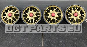 4 Oem Bbs Rs795 8x18 Et43 Audi Black Gold Oem