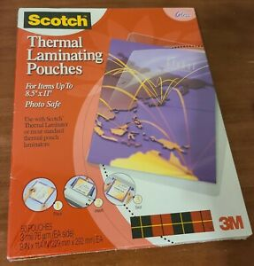 3m Scotch Thermal Laminating Pouches Letter Size 8 5 X 11 50 Pack Gloss