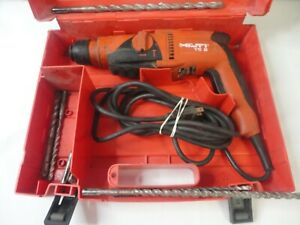 Hilti Te 2 Corded Rotary Hammer Drill With Case 7 Bits Tested Works Great