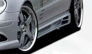 Mercedes Benz Rieger Oem C209 W209 Clk Class New Style Side Skirts Brand New