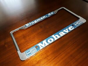 Vintage License Plate Frame Mohave Ford Lincoln Mercury Kingman Arizona Diecast