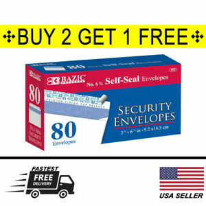 80 Peel Self seal White Letter Mailing Security Envelopes 3 5 8 X 6 1 2