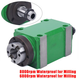 Bt30 1 5kw 2hp Spindle Unit Power Milling Head 6000rpm 8000rpm For Cnc Cutting