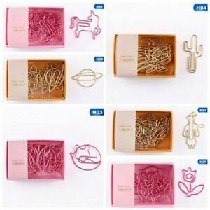 8pcs Cute Paper Clips Bookmark Memo Clip Office School Stationery Ho_ Oirre