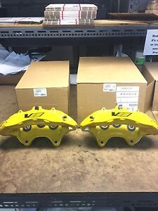 Cts V Ctsv Yellow 6 Piston Front Calipers Pair New Gm 20982734 20982719 Cadillac