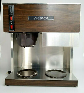 Newco Rc2 Commercial Coffee Maker Brewer Rc 2a Stainless Wood