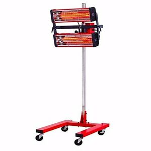Baking Infrared Paint Curing Lamp Heater Heating Light Spray Booth Filtter 110v