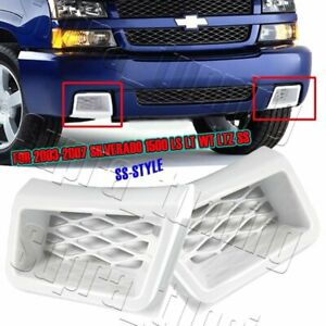 X2 Painted White Air Duct Front Bumper Caliper For 03 07 Silverado 1500 Ss style