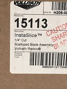 Vollrath 15113 1 4 In Instaslice Blade Assembly Brand New Sealed In Box