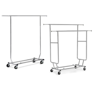 Commercial Grade Garment Rack Clothing Rack Adjustable Rail