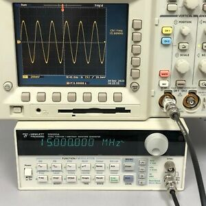Hp Agilent 33120a 15 Mhz Function arbitrary Waveform Generator Tested Spot On