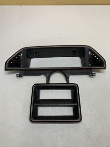 87 91 2 Piece Ford Bronco Woodgrain Dash Trim Radio Bezel Oem Woodgrain