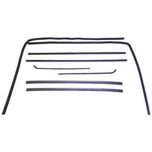 Sweep Belt Glass Run Window Channel Kit Pair For 51 54 Chevy Pickup Truck C K