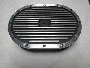 Aluminum Air Cleaner For 4 Barrel Carb Ribbed Type Oval 12 X 8 1 4