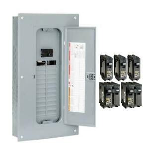 Square D Main Breaker Box Kit 100 Amp 24 space 48 circuit value pack