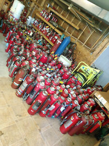 Fire Extinguisher Mixed Lot Of 300 Ansul Redline Badger Brigade Abc Bc Class D