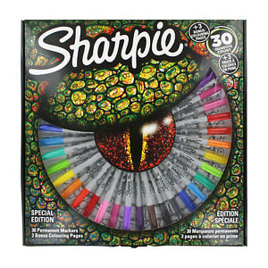 Sharpie Permanent Markers Fine Ultra Fine Point Assorted Colors 30 Count