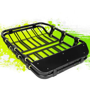 51 X41 Mild Steel Roof Rack Cargo Baggage Luggage Carrier Basket Wind Fairing
