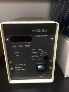 Nikon Xenon 75 Watt High Pressure Xbo Lamp Power Supply