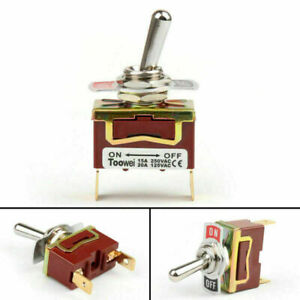 1x Toowei 2 Terminal 2pin On off 15a 250v Toggle Switch Boot Spst Grade Us