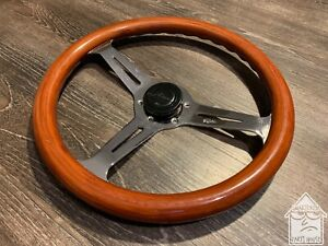 Peyton 350mm Wood Steering Wheel Jdm Nardi Momo Vintage