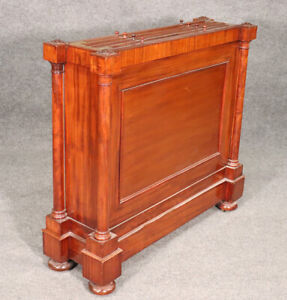 Rare English Regency Solid Mahogany Map Cabinet W World Maps C1830