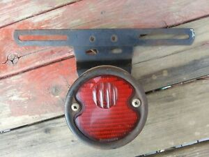 Grote 215 Tail Light Vintage License Plate Bracket