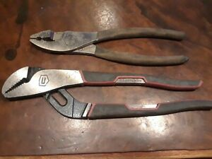 Usa Made Craftsman Pliers Set Slip Joint 45379 Channel Jaw 28346