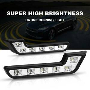 12v 6led White Daytime Running Light Drl Car Fog Day Driving Front Turn Lamp New
