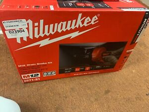 new Milwaukee M12 Cordless Auger Snake Drain Cleaning Kit 2571 21
