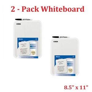 Two Bazic 8 5 X 11 Small Dry Erase White Board With Marker Note Class Student