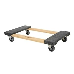 Hardwood Furniture Dolly Moving Carrier Handle Casters 1000lb Capacity 30 X 18