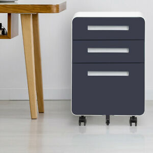 Mobile File Cabinet Storage With Wheel Anti tilt Mechanism Casters And 3 drawer