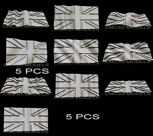 3d Model Stl For Cnc Router Carving Artcam Aspire Great Britain Flag Pano D275