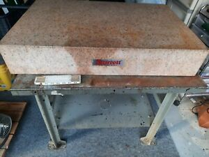 Starrett Crystal Pink Granite Surface Plate With Stand