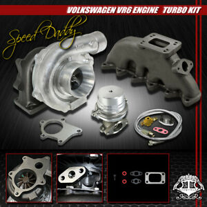 T04e 5pc T3 t4 Turbo Kit cast Manifold wastegate 92 05 Vw Golf jetta passat Vr6