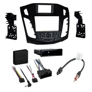 Car Stereo Radio Dash Install Kit For 2012 2014 Ford Focus Without Myford Touch