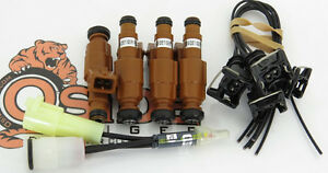 1986 88 Toyota 4runner Turbo 22ret 22rte Fuel Injectors Plug Play 4 Hole Spray