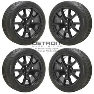 19 Ford Mustang Gloss Black Wheels Rims Tires Oem Set 4 2015 2020 10035
