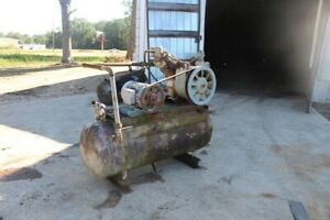 Ingersoll Rand 10hp Air Compressor 30t With 80 Gallon Tank 3 phase Used
