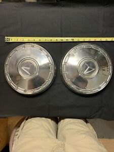 Vintage Chrome Baby Moon Hubcaps 2