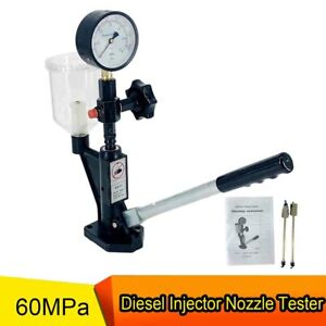 Diesel Fuel Injector Nozzle Tester With Dual Scale Gauge 8700psi 0 75l Fuel Tank