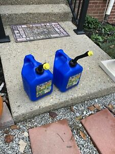 Two Classic Blitz 2 Gallon 8 Ounce Rare Kerosene Cans