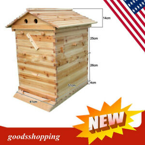 Wooden Bee Hive House Beehive Kit Beekeeping Equipment Beekeeper Tool