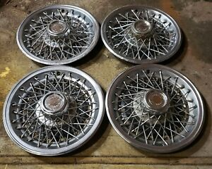 Set Of 4 Vintage Chevy Monte Carlo Malibu El Camino 14 Wire Hubcap Wheel Covers