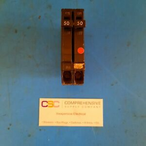 Thqp250 Ge 50a Amp 2p Pole 240v Thqp Tqp Circuit Breaker Used Old Version