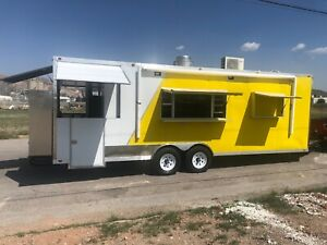 25 X 8 5 Concession Food Trailer Restaurant Bbq Toilet Package