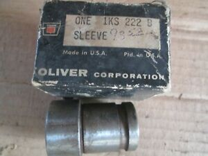 Oliver Tractor Brand New Engine Sleeve With Bushing Nos fit Many Oliver White