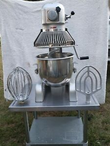 Berkel Hobart 20 Qt Dough Bakery Mixer With Attachments Pm20 Table freight